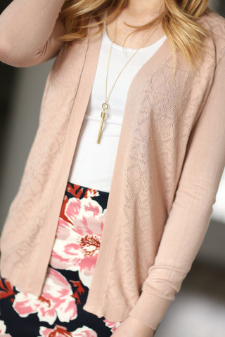 Finishing Touch Knit Cardigan in Blush
