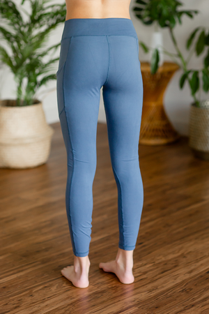 Here With Me Leggings in Dusty Blue