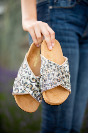 All That Glitters Sandals in Animal Print