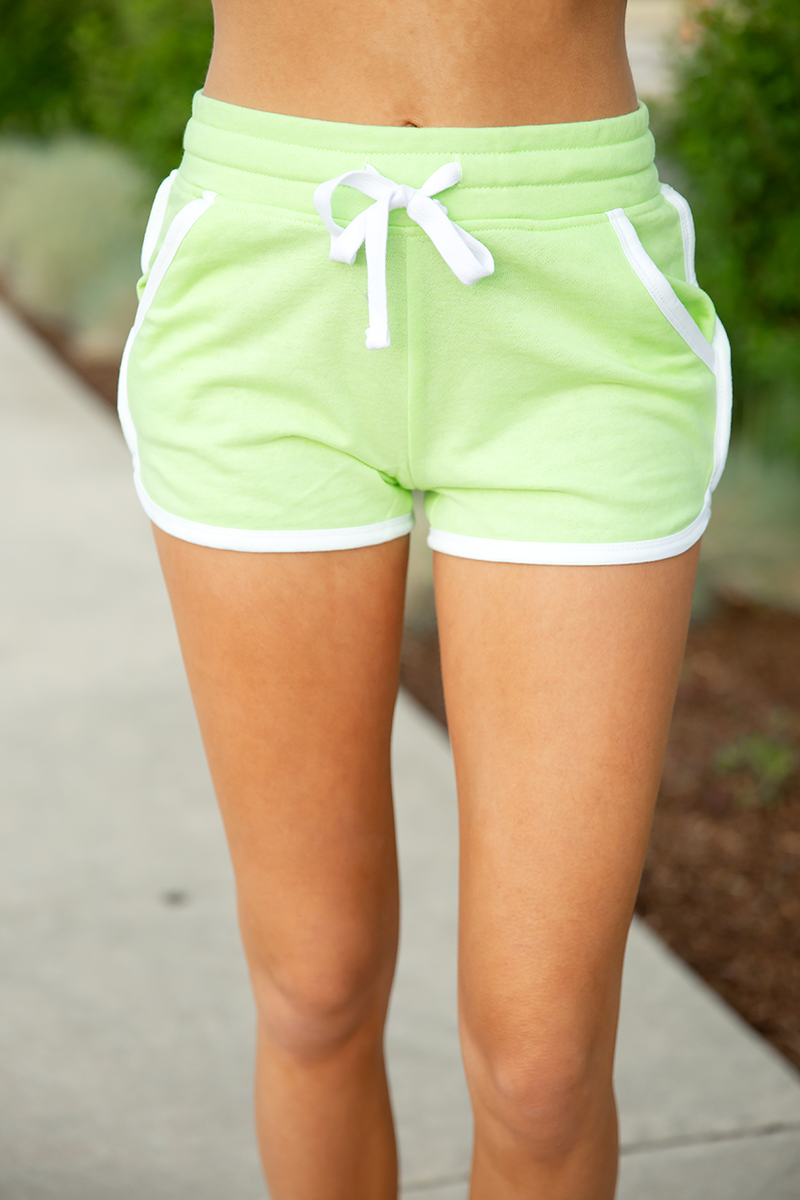 Short and Sassy Shorts in Neon Yellow
