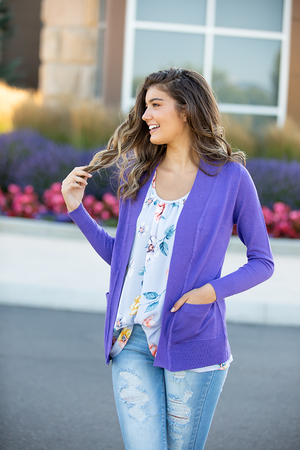 Everyday Cardigan in Ultra Violet