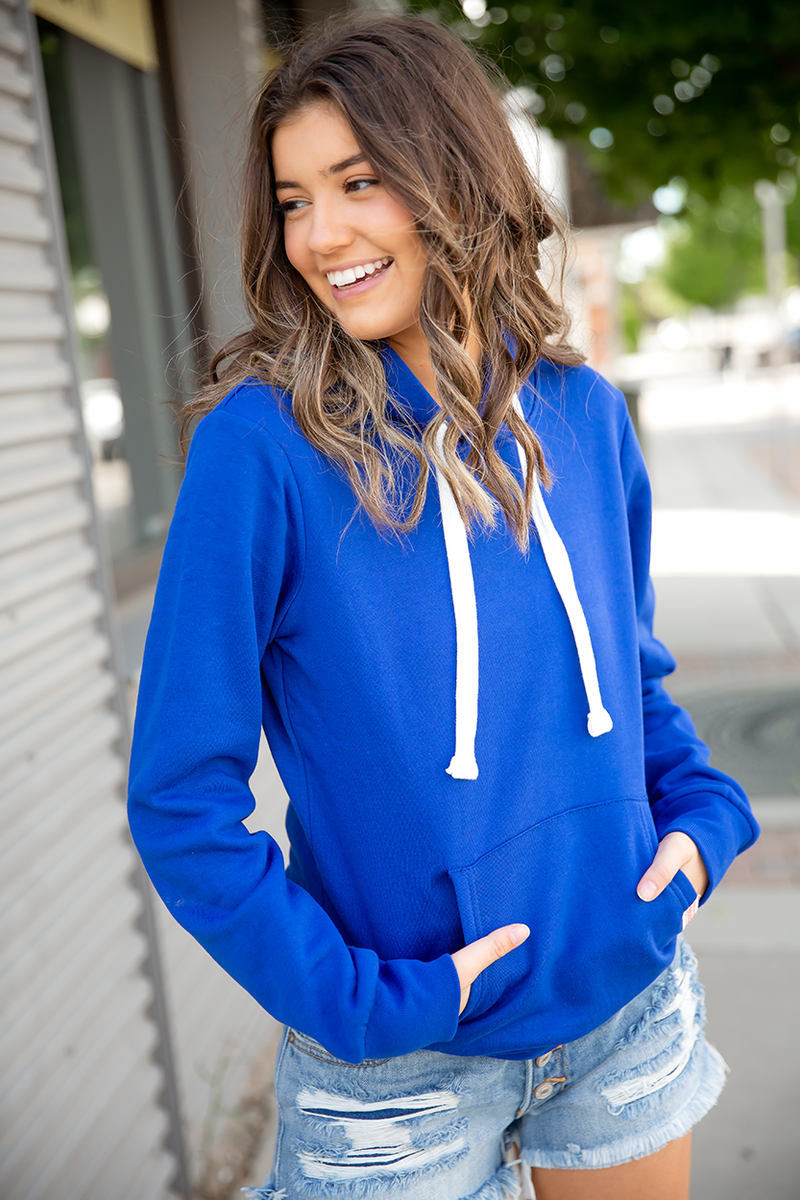 Highlights Hoodie in Royal Blue