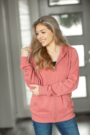 Singing Songs to You Zip Up Hoodie in Mauve