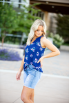 Follow Me Navy Floral Tank