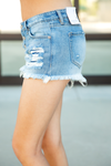 KanCan Make Memories Frayed Distressed Shorts