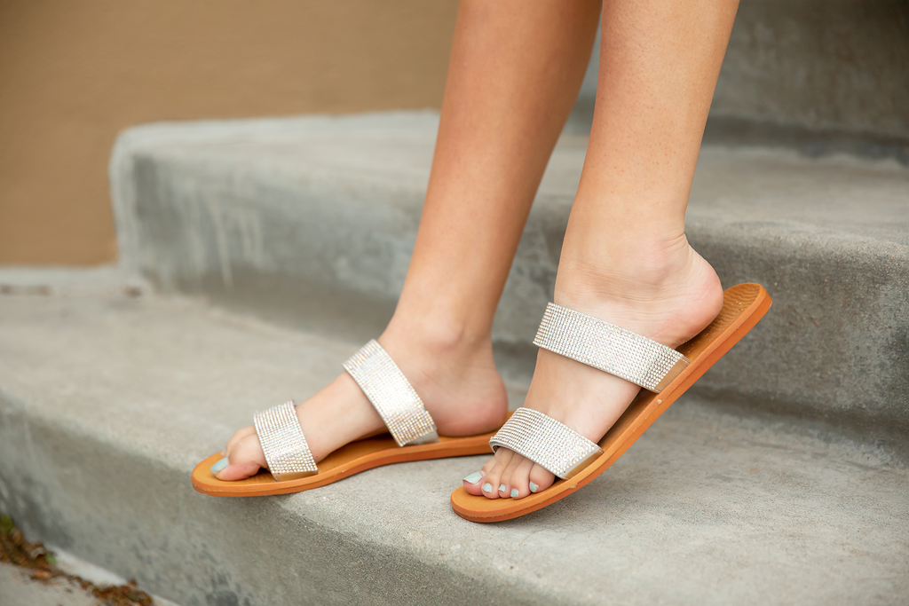 Hello Gorgeous Sandals in Silver