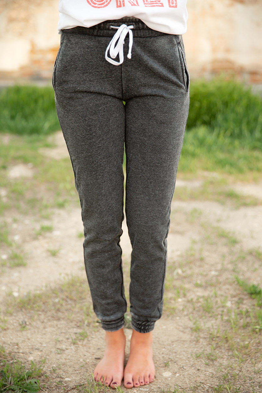 Tell Me About It Joggers in Vintage Black