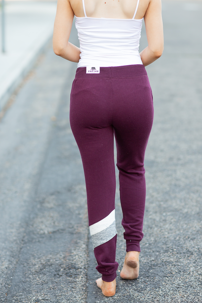 Let The Good Times Roll Burgundy Joggers