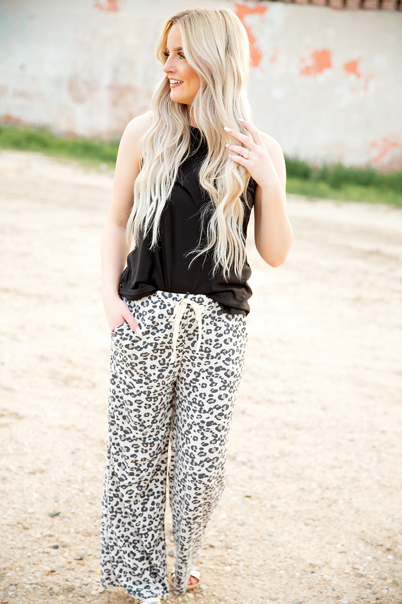 Cool Cat Animal Print Lounge Pants