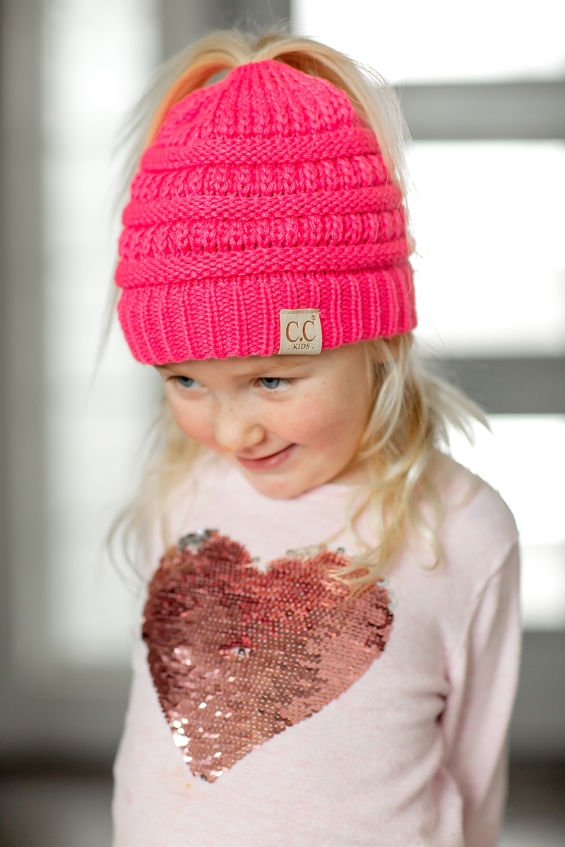 KIDS CC Pony Tail Beanies