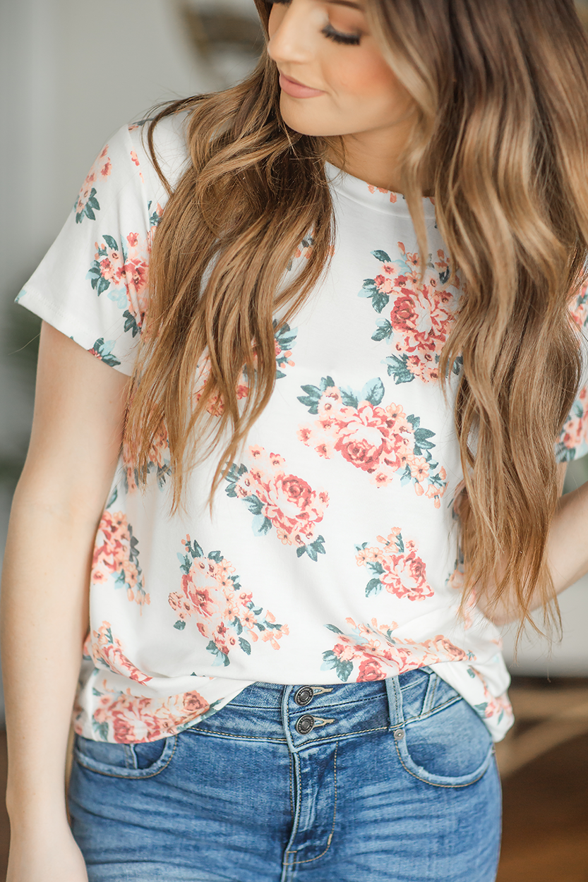 Lonely Night Floral Top
