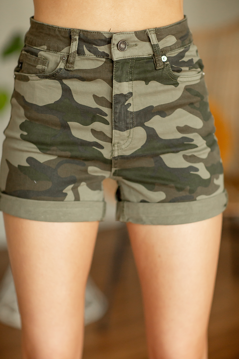 KanCan Stand My Ground Camo Shorts