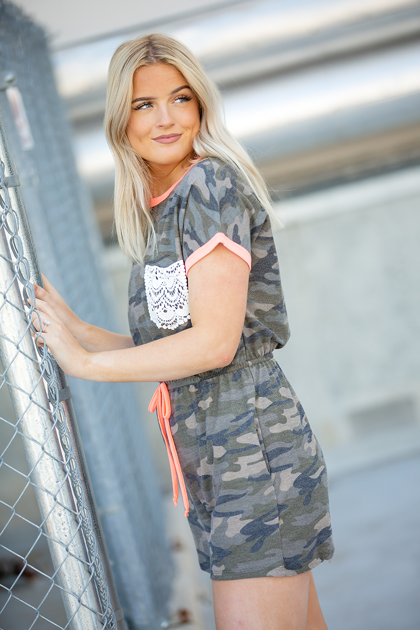 Dream of Me Camo Romper