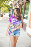 Closer To You Ombre Animal Print Top