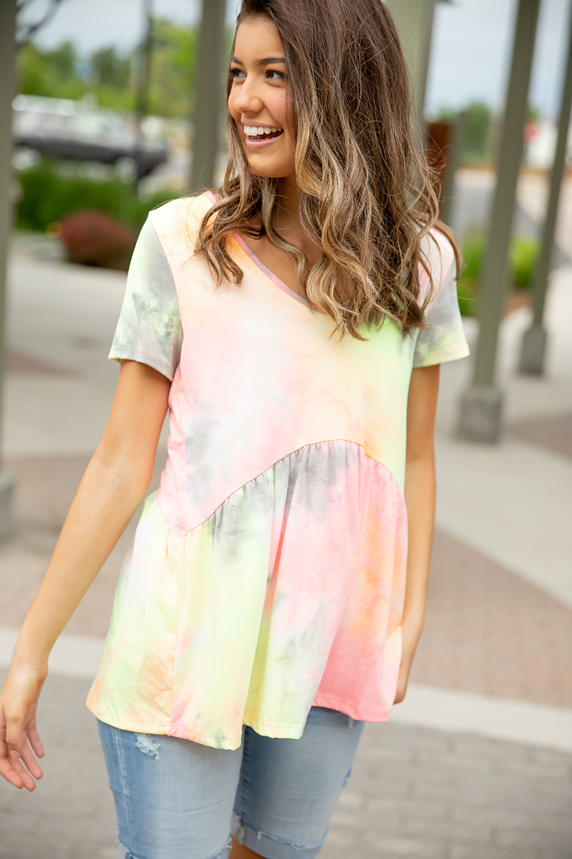 Let's Celebrate Colorful Tie Dye Top