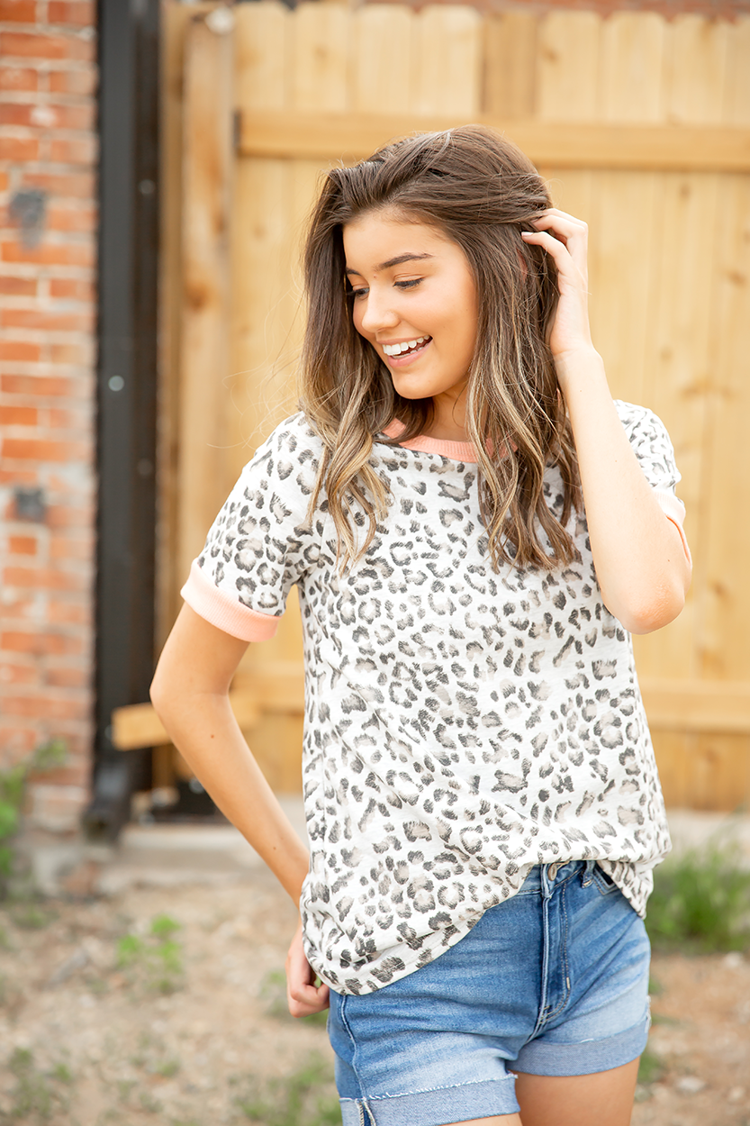 Make You Mine Animal Print Top
