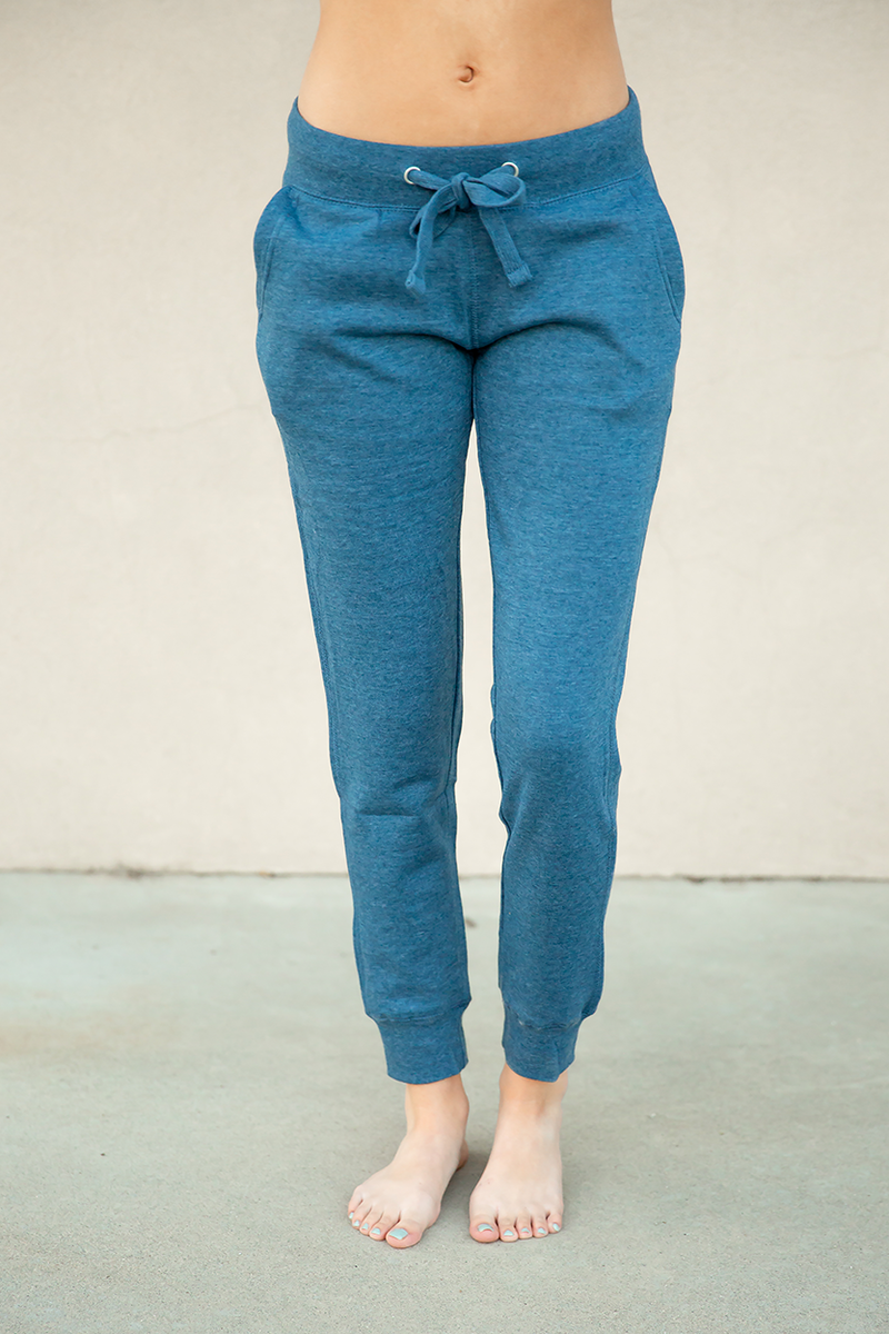 Cute and Comfy Joggers in Denim Blue