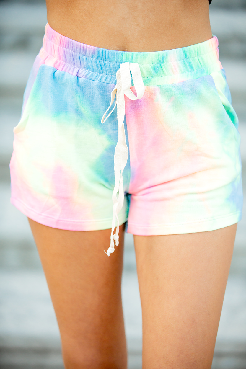 Memories to Last Multi Colored Tie Dye Shorts