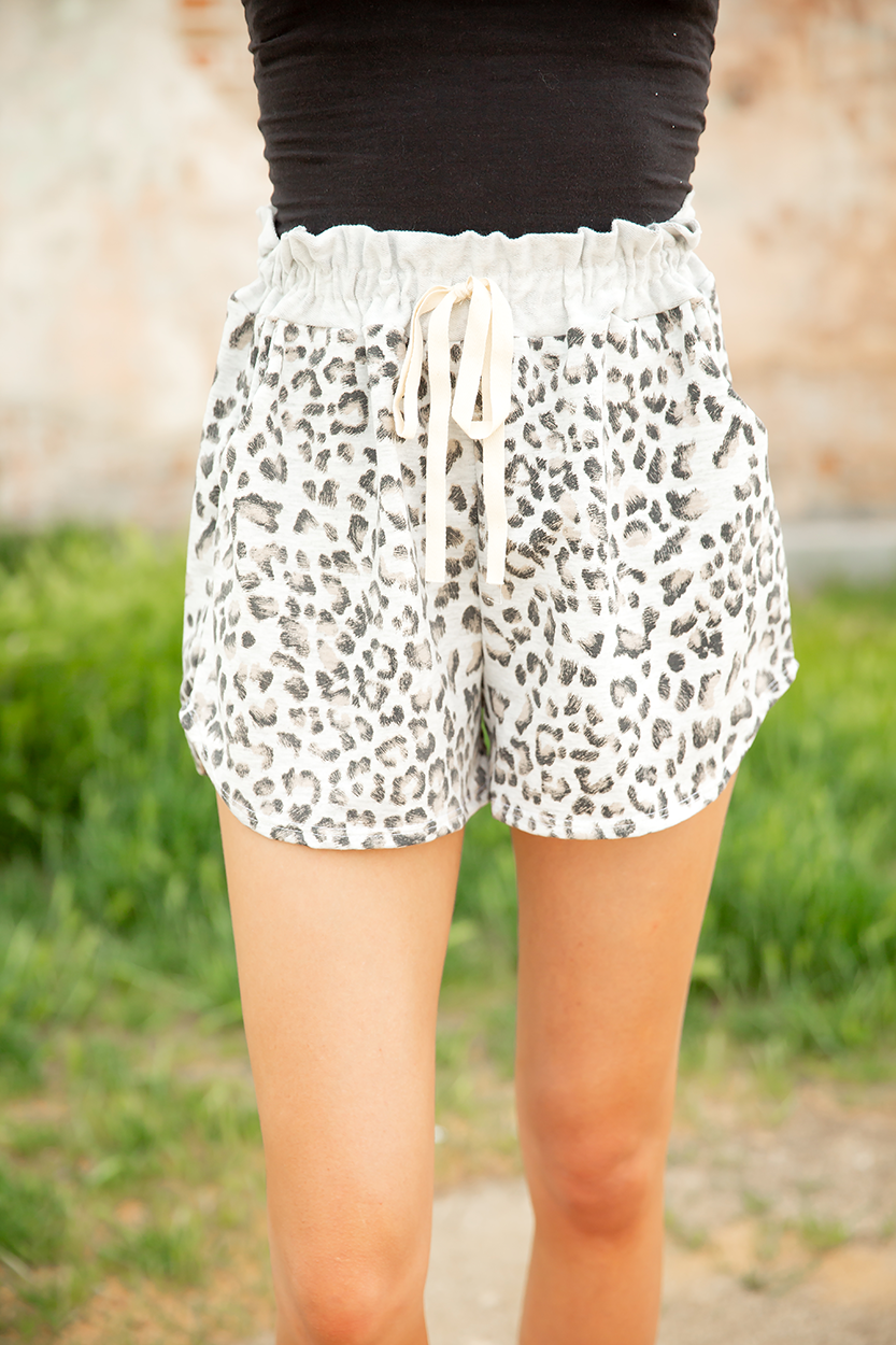 Make You Mine Animal Print Shorts