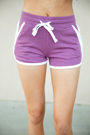 Short and Sassy Shorts in Light Purple