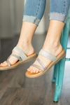 Blowfish Sandals in Pewter Gray
