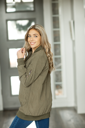 Still Feel Alive Jacket in Olive