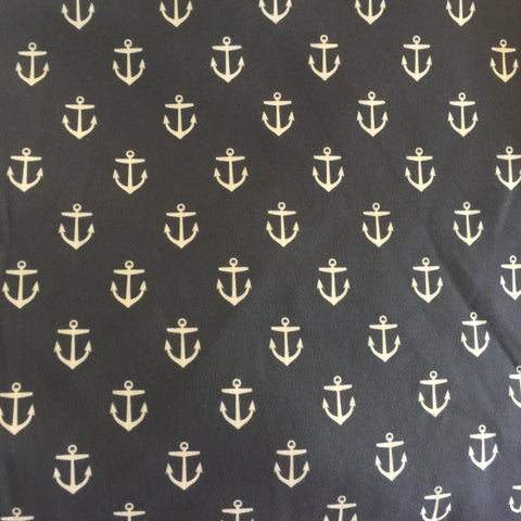 Navy Anchor Fabric