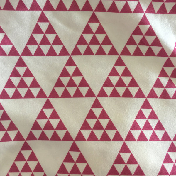 Pink Triangles Fabric
