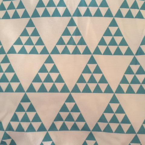 Turquoise Triangles Fabric