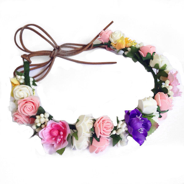 Tahitian Sunset Floral Halo