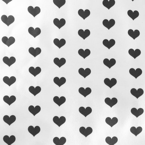 Black Love Hearts Fabric