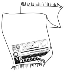 808 drum machine Pashmina Scarf