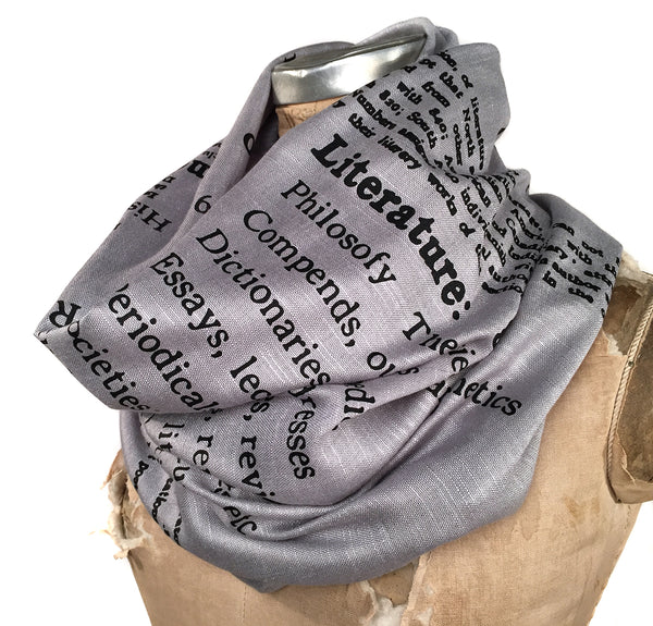 Dewey Decimal Scarf, classification for Literature. By Cyberoptix