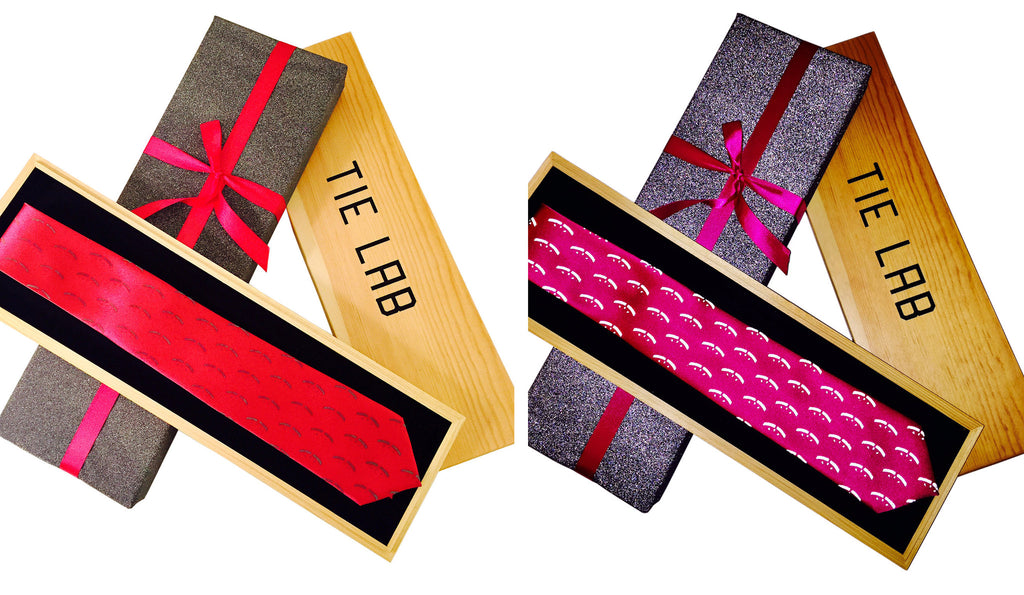 Custom neckties for WTRMLWTR with retroreflective printing ink