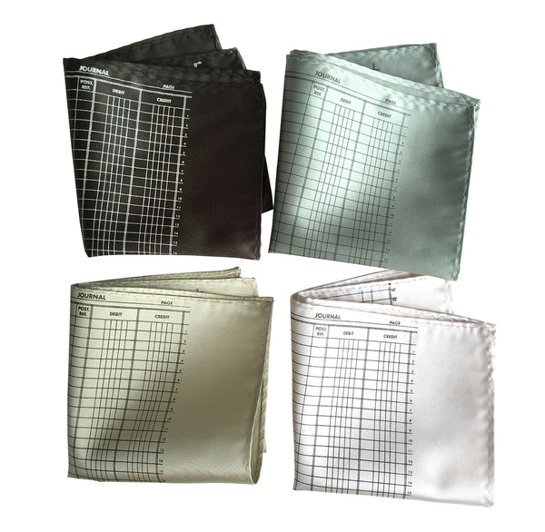 Cyberoptix accounting theme pocket squares