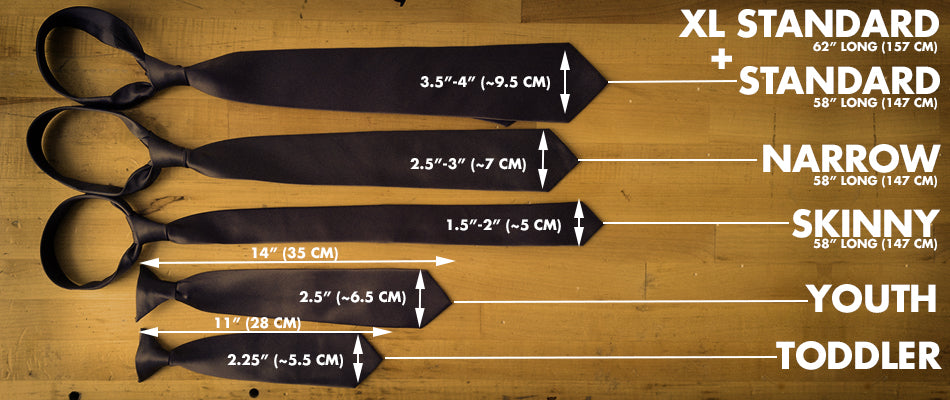 Necktie Sizes: From Baby to Big and Tall