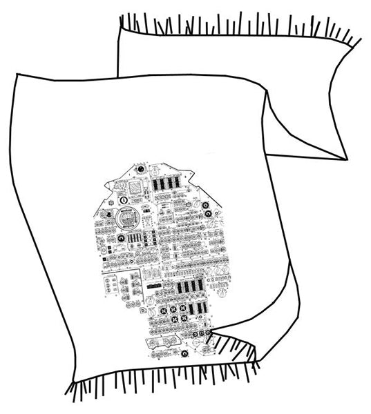 pashmina linesheet  outlines of all scarf graphics