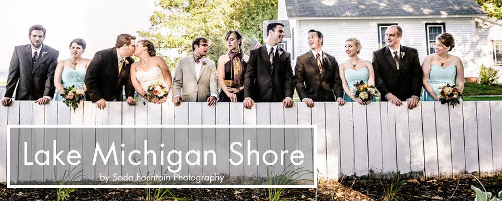 cyberoptix ties at northern michigan beach wedding