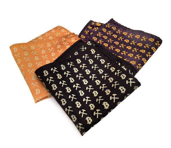 bitcoin logo pocket squares