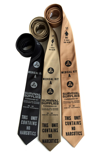 civil defense CD neckties