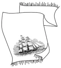 Clipper Ship Pashmina Scarf