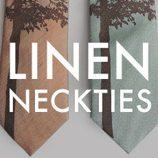 custom printed linen neckties, by Cyberoptix
