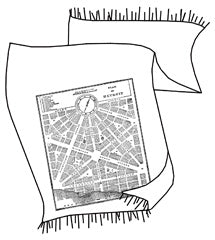 Detroit Map Pashmina Scarf