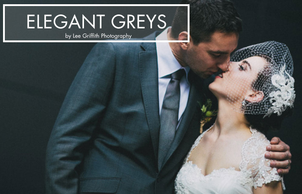 Elegant charcoal grey wedding