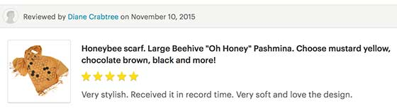 Cyberoptix honey bee scarf customer reviews