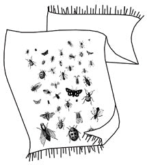 Insect Pashmina Scarf