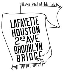 Lafayette to Brooklyn NYC Pashmina Scarf