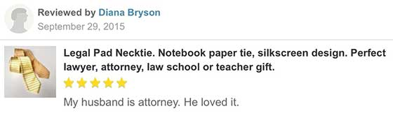 legal pad necktie reviews