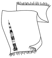 Saturn V Rocket Light Pashmina