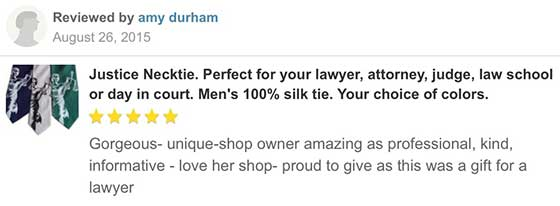 scales of justice necktie customer reviews